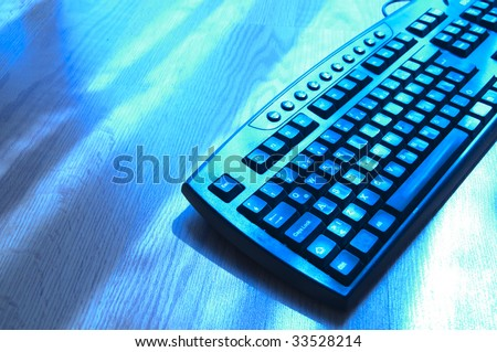 abstract dark keyboard background - stock photo
