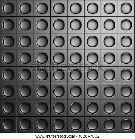 Abstract Dark Metallic Shiny Industrial Background. 3d Render Illustration - stock photo
