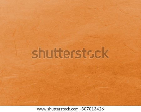 Abstract Dark Orange Recycle Mulberry Paper Texture Background - stock photo