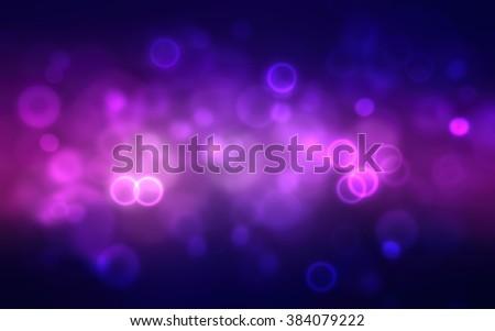 Abstract dark purple festive background with bokeh defocused lights - stock photo
