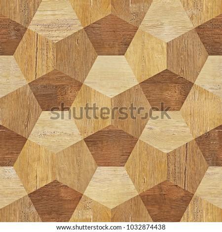 Abstract Decorative Blocks Seamless Pattern Wood Stock Illustration ...