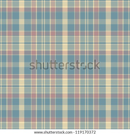 Abstract decorative blue and red check texture. Seamless pattern. Illustration. - stock photo