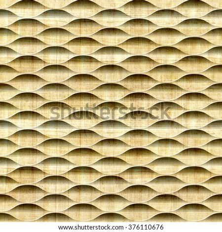Abstract decorative lattice - Interior wall panel pattern - Geometric shapes - guilloche patterns - seamless background - papyrus texture - stock photo