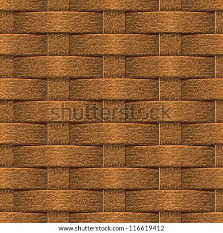 Abstract decorative leather textured basket weaving background. Seamless pattern. Illustration. - stock photo