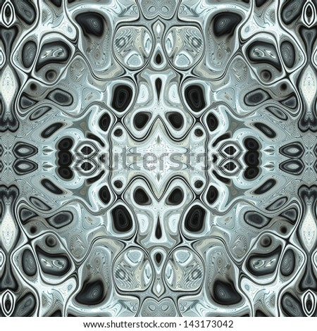 Abstract decorative organic network ornament.  Seamless pattern.