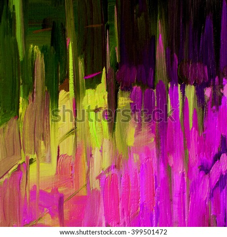 abstract decorative painting for interior by oil on canvas, illustration - stock photo