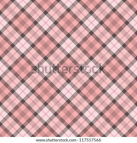 Abstract decorative pink check texture. Seamless pattern. Illustration. - stock photo