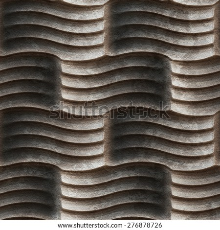 Abstract decorative relief concrete seamless pattern. - stock photo