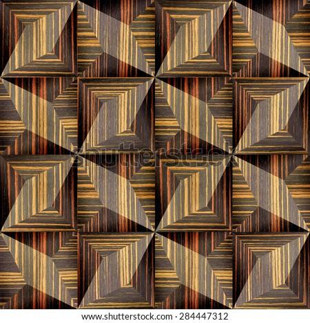 Abstract decorative texture - seamless background - paneling pattern - Ebony wood texture - stock photo