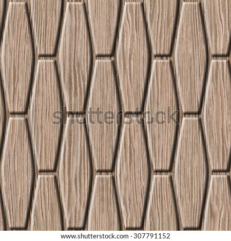 abstract decorative wall - seamless background - Blasted Oak Groove wood texture - stock photo