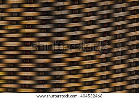 Abstract decorative wooden textured basket weaving, digital illustration art work.