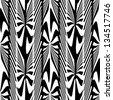 Abstract decorative zebra plants ornament. Seamless pattern. - stock vector
