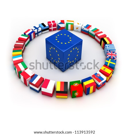 Abstract demonstration of greece as member of the european union - stock photo