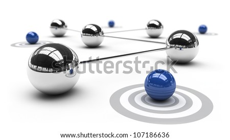 Abstract demonstration of network and communication - 3D - stock photo