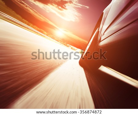 Abstract design background Trucks and transport. Highway and delivering. - stock photo
