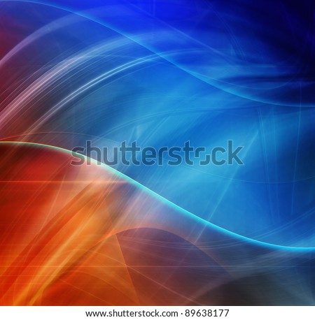 Abstract design, blue and red color, futuristic background - stock photo