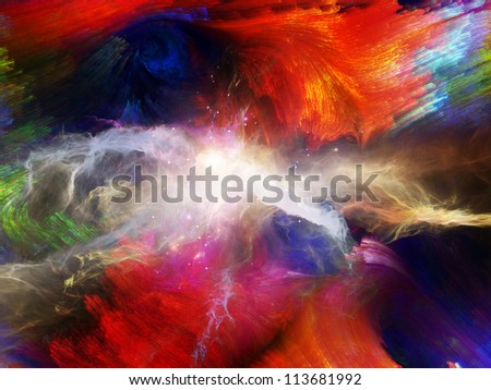 Abstract design made of nebulous textures, fractal paint and lights on the subject of creativity, imagination, dreams and inner reality