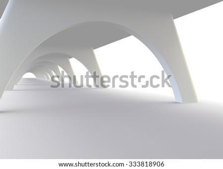 Abstract design of a bridge in modern style - stock photo