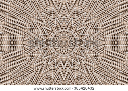abstract design of circles in shades of brown - stock photo