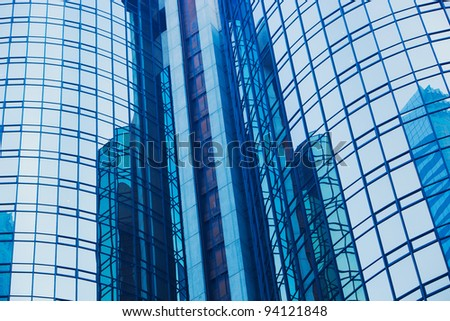 Abstract Detail of Modern Urban Architecture - stock photo