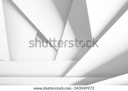 Abstract digital background with white chaotic multi layered planes, 3d illustration - stock photo
