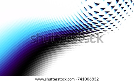 Abstract digital fractal pattern. Horizontal orientation.