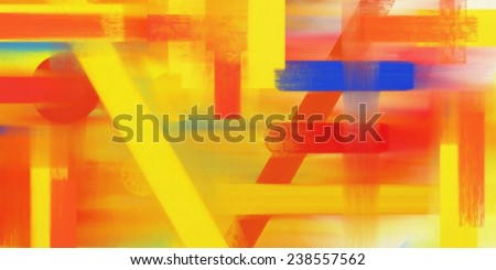 Abstract digital oil painting - stock photo