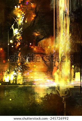 abstract digital painting - stock photo