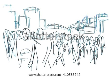 abstract digital painting for background/abstract crowd sketching/abstract digital painting for background