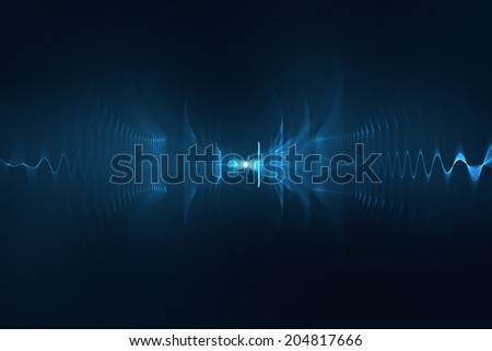 Abstract digital sound wave background - stock photo