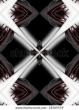 abstract digital symmetry - stock photo