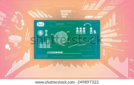 Abstract digital tech background
