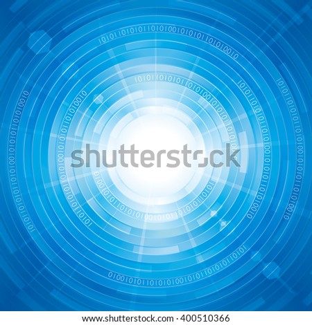 Abstract digitally technology blue background. - stock photo