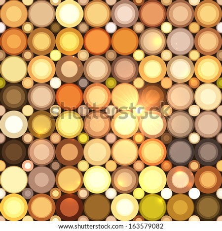 Abstract disco circles mosaic seamless pattern - stock photo