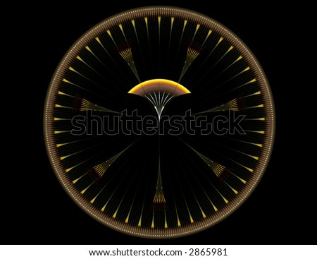 Abstract disk for background, pattern, or shape