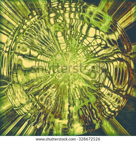 Abstract distressed grunge background. With different color patterns: yellow (beige); brown; green; black - stock photo