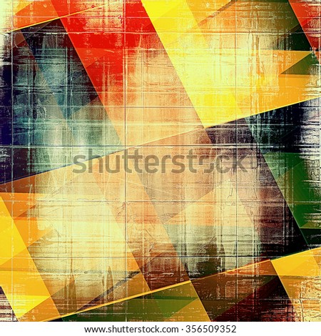 Abstract distressed grunge background. With different color patterns: yellow (beige); brown; red (orange); green; black - stock photo