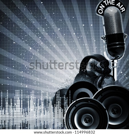 Abstract DJ backgrounds with copy-space for your design - stock photo