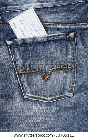 abstract dollars finance jeans pocket - stock photo