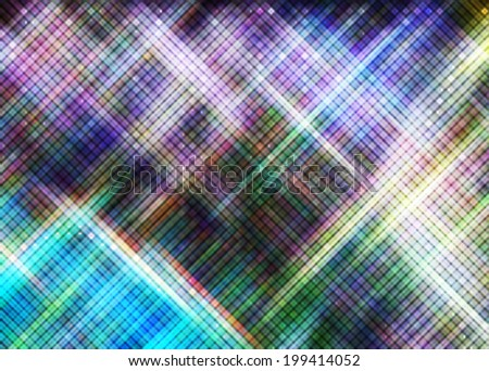 Abstract Dotted Background Colorful pixels Background Glowing Blurred background. Multifunctional media backdrop. Blurred. Diffracted Light  - stock photo