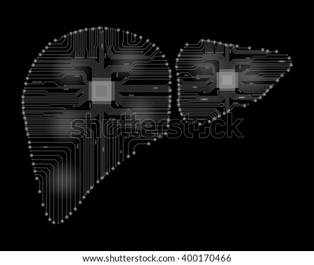 Abstract drawing of a liver