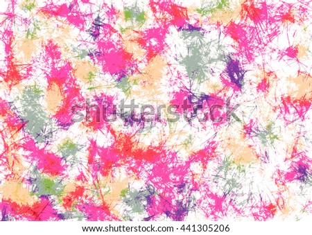 Abstract drawn watercolor crumpled bright background with brushstrokes in pink colors. Gorizontal artistic creative banner. Series of Watercolor, Oil, Pastel, Chalk and Inc Backgrounds. - stock photo