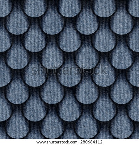 Abstract drops pattern - seamless pattern - blue jeans textile - stock photo