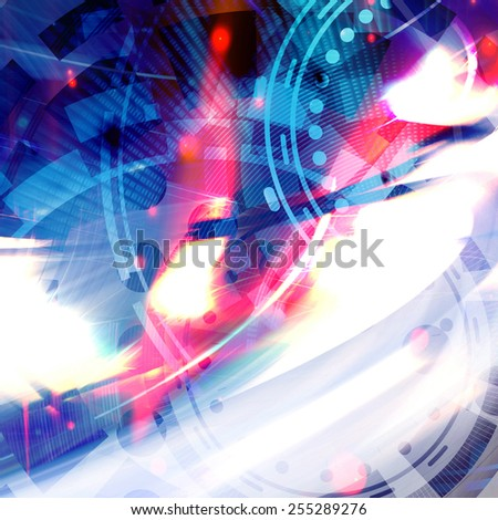 Abstract Dynamic Futuristic Background Design  - stock photo