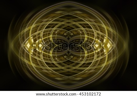 Abstract dynamic gold background