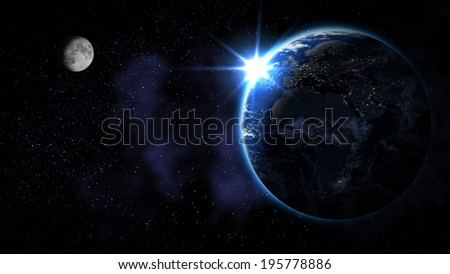 Abstract Earth from space (Elements of this image furnished by NASA)