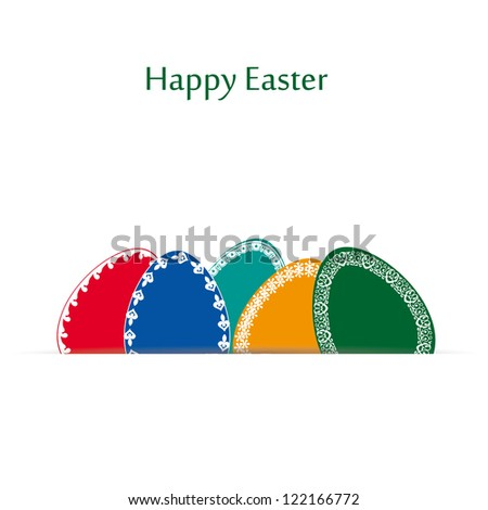 Abstract easter card with many colorful eggs