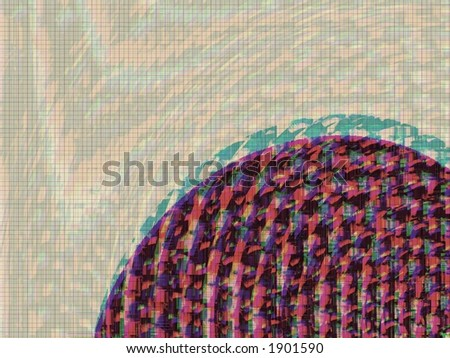 Abstract Easter Egg - Illustration - stock photo