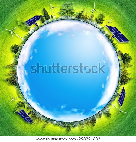 abstract eco backgrounds. alternative energy and power concept - stock photo