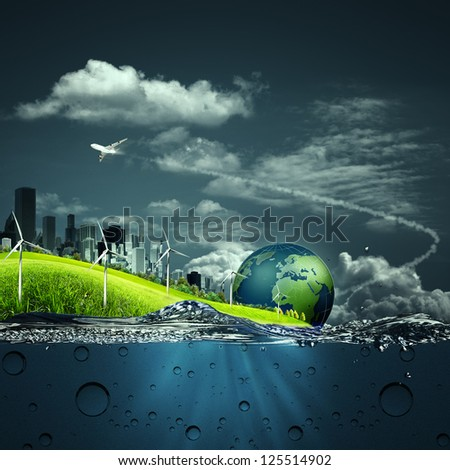 Abstract ecosystem backgrounds for your design - stock photo